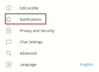 configuring notifications settings for Telegram Desktop