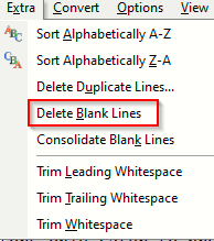 deleting blank lines from documents in EditPad Lite