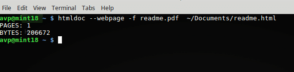 converting webpages and html files to PDF using  htmldoc in Linux