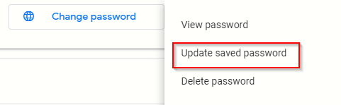 updating stored Chrome passwords