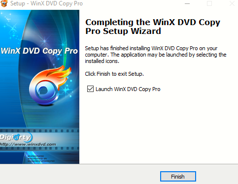 WinX DVD Copy Pro installed
