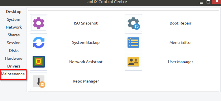 backing up antiX system and creating system ISO snapshot in antiX