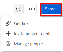 using the share option in Box Notes