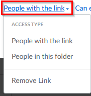 changing access settings for shareable Box Notes link