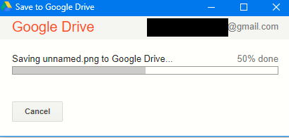 uploading webpage as an image to Google Drive using Save To Google Drive extension