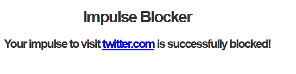 websites blocked using Impulse Blocker