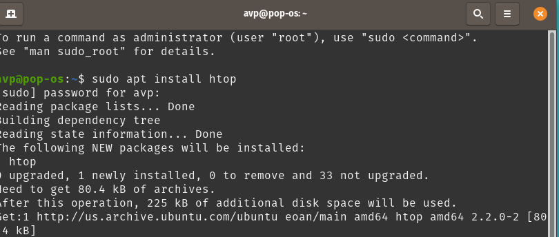 installing packages from command line in Pop!_OS