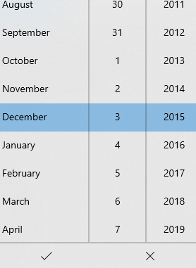 selecting date and time that is to be set for the photo in Windows 10 Photos app