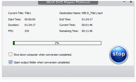 ripping and backing up DVDs using WinX DVD Ripper Platinum