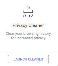Privacy Cleaner option in CCleaner Browser