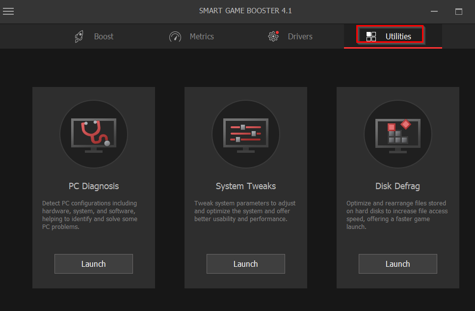 other PC tune up utilities in Smart Game Booster