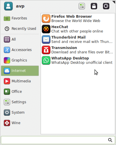WhatsApp Desktop installed in Linux Mint