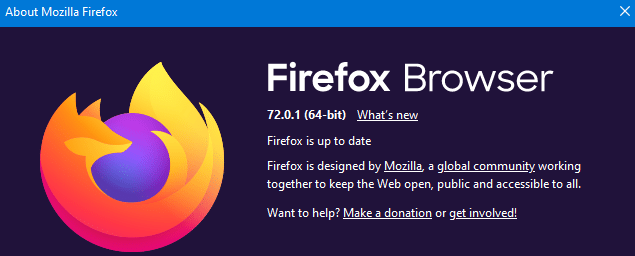 Firefox version 71 an above supports Picture-in-Picture mode