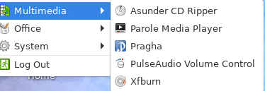 multimedia apps like Parole Media Player in Fedora Xfce