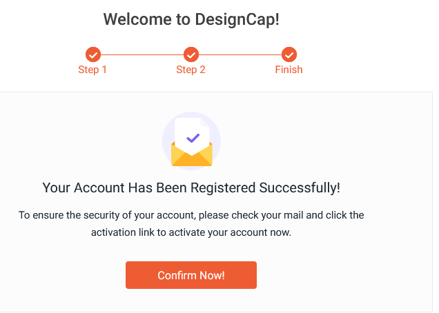 DesignCap account created