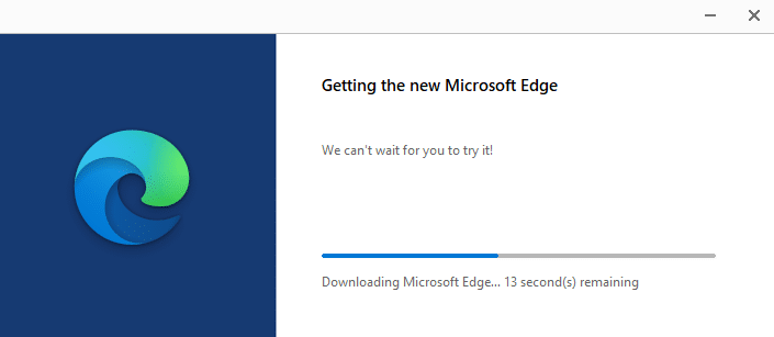 downloading and installing the new Edge browser in Windows 10