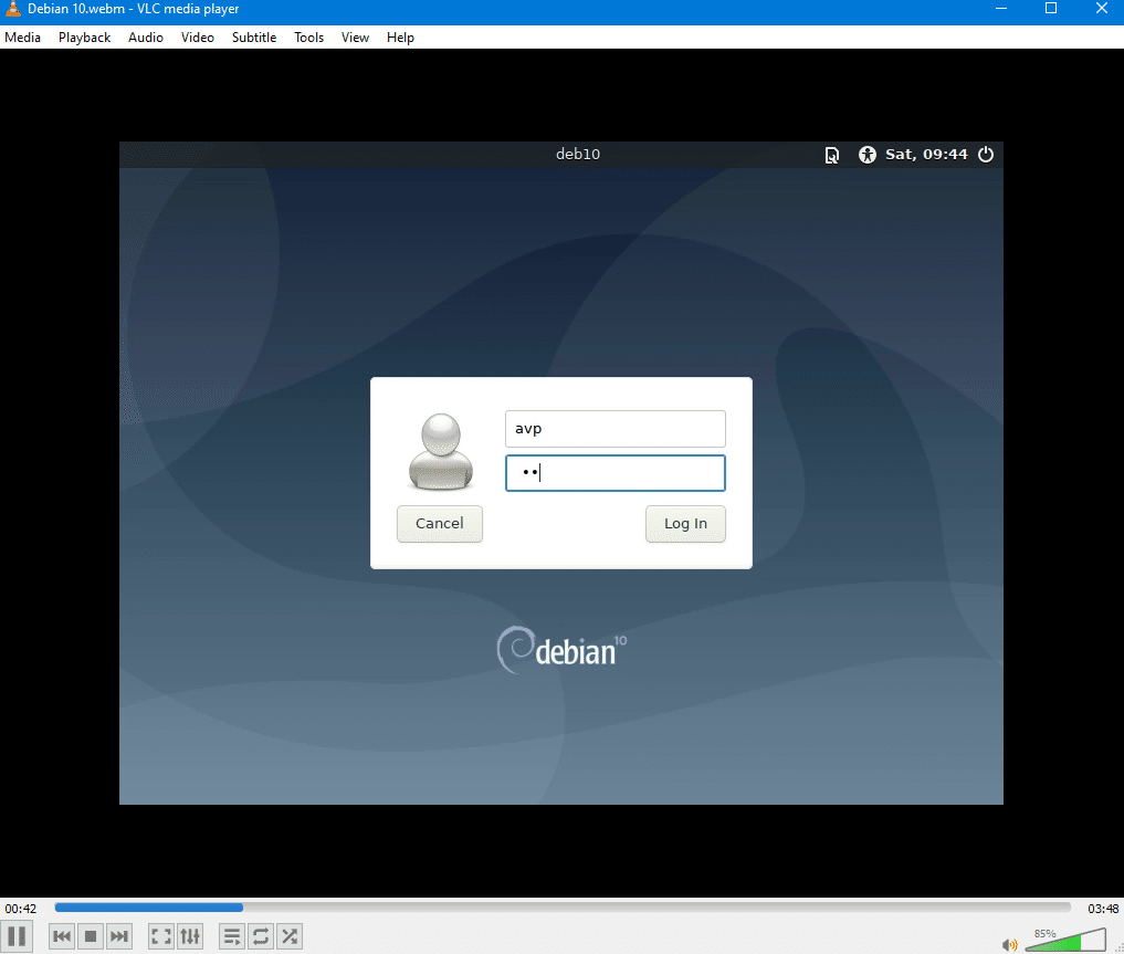 VM session playback when recorded using VirtualBox for Windows