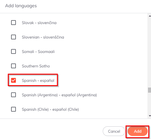 adding a language in Brave browser