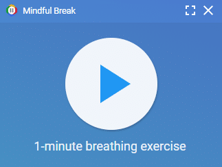 1-minute breathing exercise in Mindful Break extension