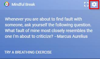 accessing Mindful Break options in Chrome