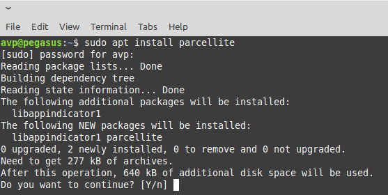 installing Parcellite in Linux Mint