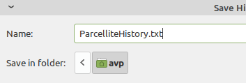 default text file for Parcellite clipboard history