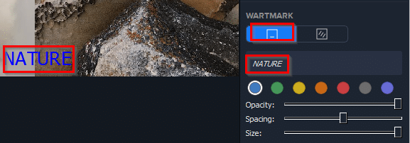 adding watermark to images in Photo Stitcher