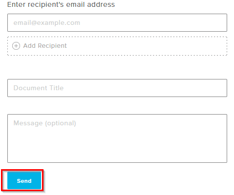 choosing recipients to send the signed document using HelloSign