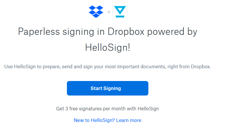 using HelloSign