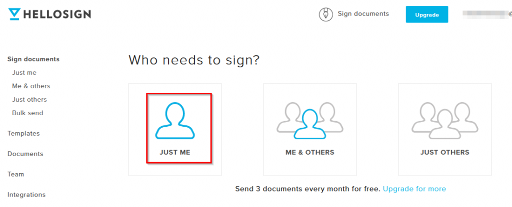 choosing signers when using HelloSign