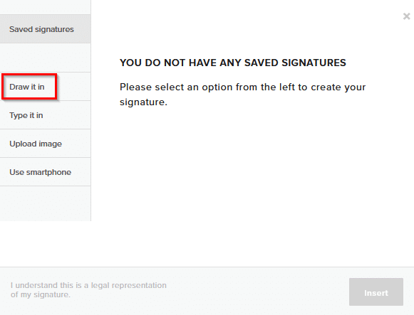various ways to add signatures in HelloSign