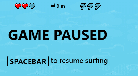 pause and resume the Surf game in Edge