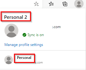 multiple profiles in the new Edge browser