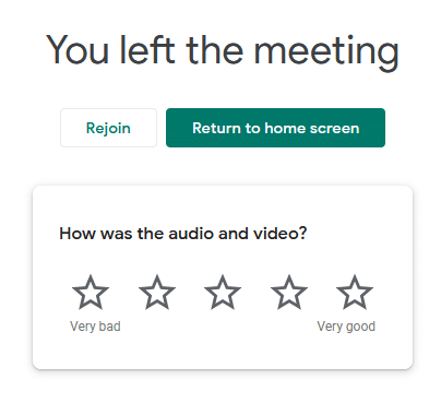 rejoin the meeting when using Google Meet