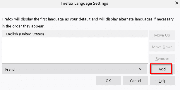 adding a language in Firefox