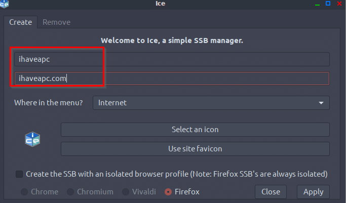 creating a SSB in Peppermint