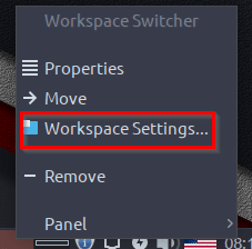 configuring workspace settings in Peppermint