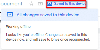 editing google docs when offline