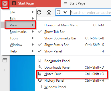 adding the Notes feature in Vivaldi side pane