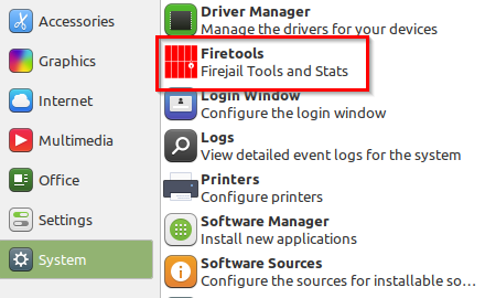 Firetools installed in Linux Mint