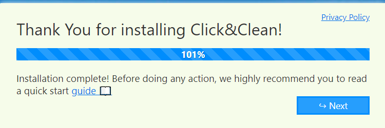 Click&Clean add-on installed for Edge browser