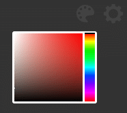 choosing a color palette for new tab background color using Minimal New Tab Clock