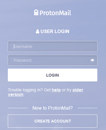 login password in protonmail
