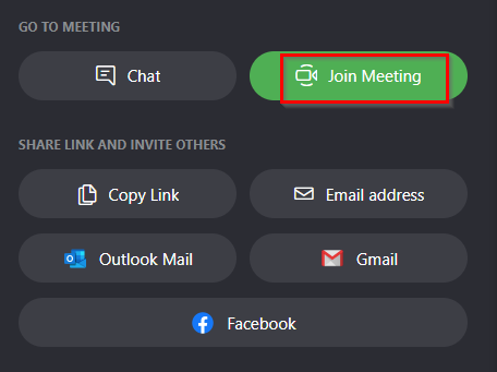 participants can only join meetings in Meet Now