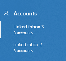 nested linked inboxes in Windows 10 Mail app