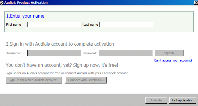 account activation for Audials One 2021 Edition