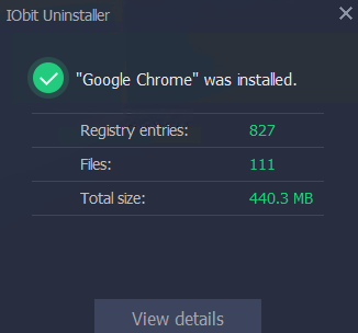 program details displayed by install monitor in IObit Uninstaller Pro