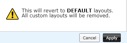 confirming resetting to default layout and deleting custom layouts in Tab Resize-split screen layouts