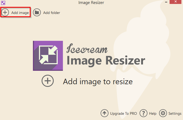 adding individual images for resizing in Image Resizer