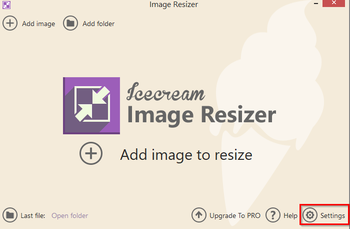 configuring other settings for Image Resizer